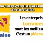 3 entreprises Lorraines dans le top 20 des entreprises les plus visitées de France