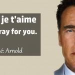 """""""Paris, je t'aime"""" : l'hommage d'Arnold Schwarzenegger devant le Bataclan"""