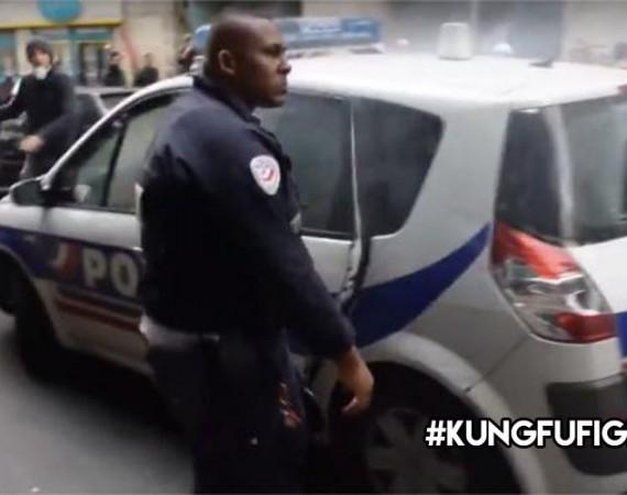 "les internautes l'appellent le policier ""Kung fu"""