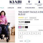 Kiabi commercialise des vêtements adaptés aux enfants handicapés