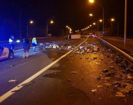 Luxembourg : Vodka et whisky recouvrent l'autoroute A6 suite à un accident spectaculaire