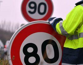 Le 1er panneau « 80 km/h » a été posé dans les Vosges