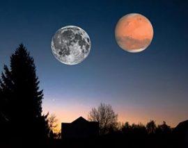 le 27 juillet 2018, oui à l'éclipse lunaire, non à la planète Mars aussi grosse que la Lune