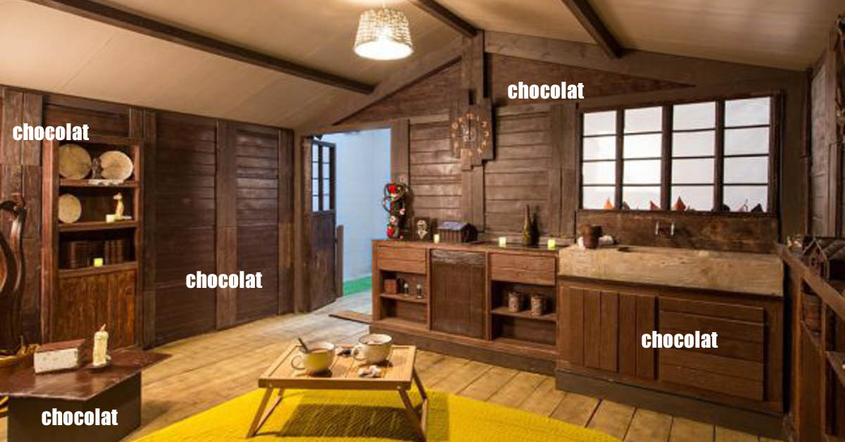 a vous dit de dormir dans un chalet en chocolat le lorrain. Black Bedroom Furniture Sets. Home Design Ideas