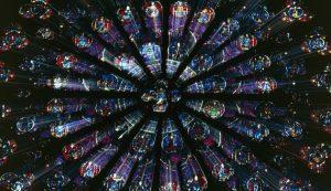 Rosace vitrail Notre-Dame cathedral, Paris