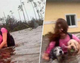 Une fillette sauve ses 2 chiens de l'ouragan Dorian aux Bahamas