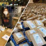 600.000 masques préparés par Post Luxembourg et distribués aujourd'hui par les facteurs