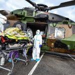 Coronavirus : évacuation par hélicoptère militaire, de Metz vers l'Allemagne