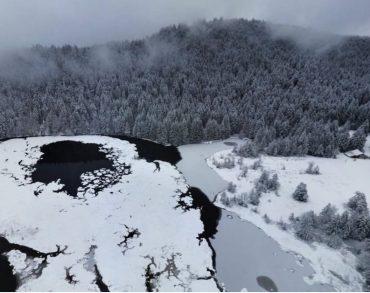 Vosges : Le lac de Lispach aujourd'hui à 360°