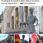Inauguration ce matin de la statue du Général De Gaulle