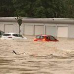 Le centre ville de Longuyon (54) totalement innondé